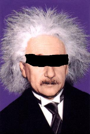 albert-einstein blindfolded